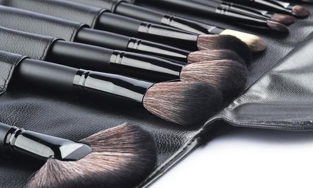 Set de 24 pinceaux de maquillage groupon shopping - Pinceaux maquillage utilisation ...