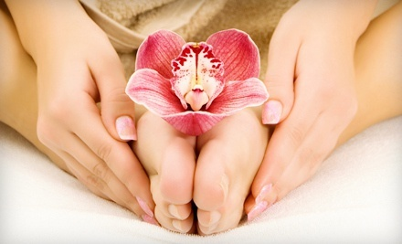 SoloRelaxation Mani-Pedi with Optional Hot-Stone Massage at Solo Haven (51% Off)