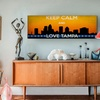 $29.99 for a Keep Calm and Love Cities Canvas Print