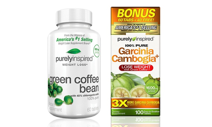 Purely inspired garcinia cambogia and green coffee bean bundle purely