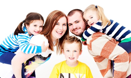 Family Photoshoot Plus One Makeover For Up to 12 With Six Prints for £12 at The Model Experience (97% Off)
