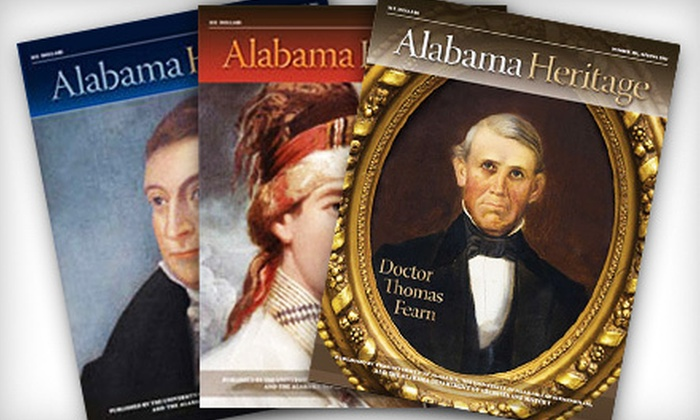 """Alabama Heritage"": One- or Two-Year Subscription to ""Alabama Heritage"" Magazine (Up to 54% Off)"