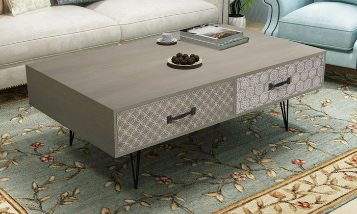 Table basse design r tro groupon shopping for Groupon table basse