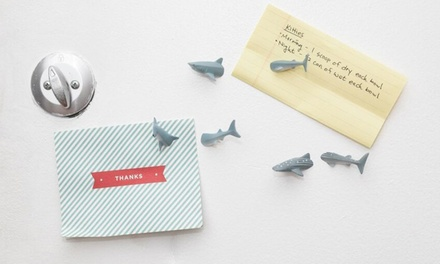 One or Two Sets of Kikkerland Shark or Whale Fridge Magnets