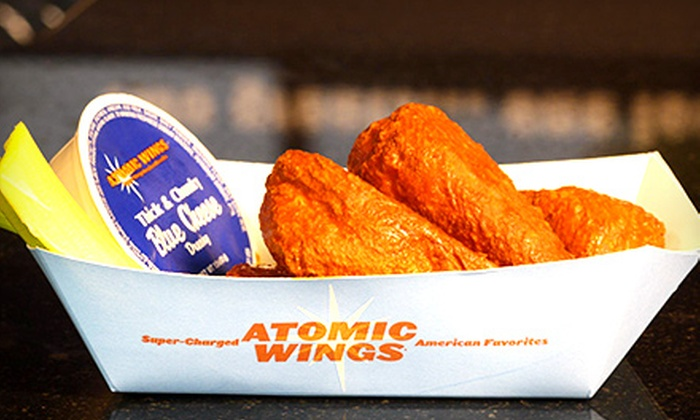 Atomic Wings - Park Slope: One or Two 50-Piece Buckets of Wings and Buckets of Beer at Atomic Wings (Up to 56% Off)