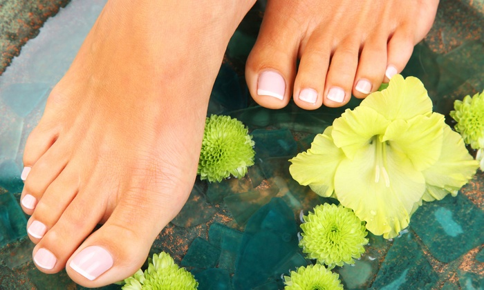 W Nails and Spa - Aurora Highlands: $45 for an Invigorating Nu-Skin Organic Pedicure at W Nails & Spa ($60 Value)