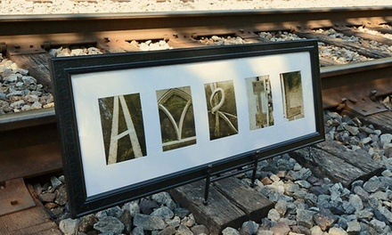 $59 for $135 Worth of Customized Letter Art from Frame The Alphabet (Up to 56% Off)