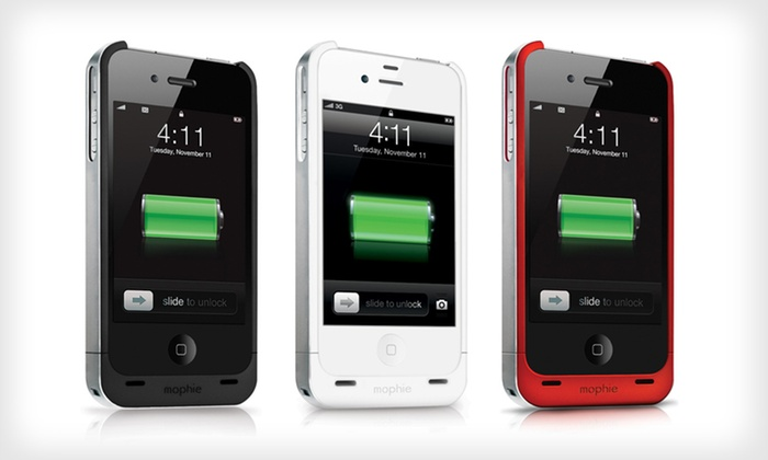 Mophie Juice Pack Battery Case for iPhone 4 and 4S: $39 for Mophie Juick Pack iPhone Battery Case (Manufacturer Refurbished) ($79.99 List Price). 3 Colors Available.