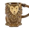 Boston Warehouse Hand-Painted Lion Stoneware Mugs