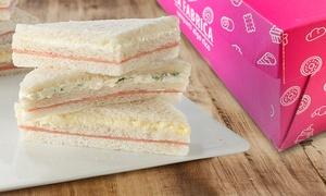 La Fábrica: $289 en vez de $500 por 1 caja de 50 sándwiches de miga triples livianos en La Fábrica, 39 sucursales