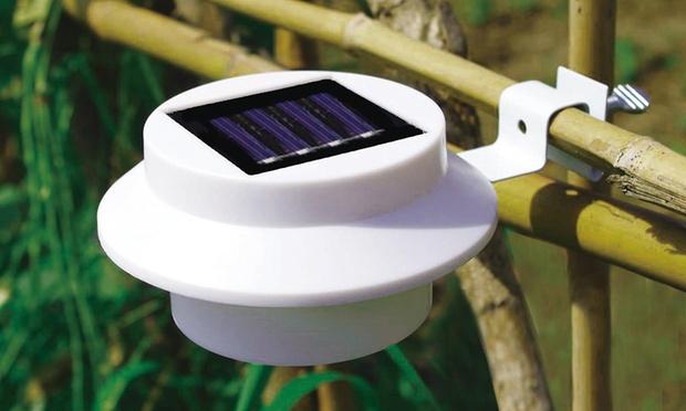 2 Solar Led Gutter Light Sets Groupon