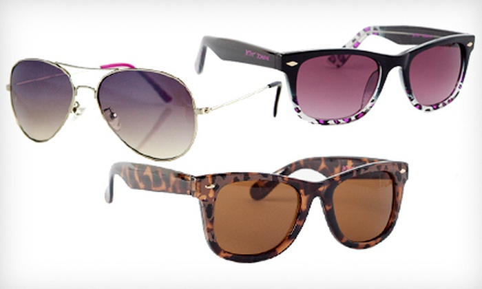 Betsey Johnson Women's Sunglasses: $15 for a Pair of Betsey Johnson Women's Sunglasses (Up to $60 List Price). Multiple Styles Available. Free Shipping.