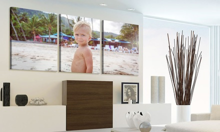 Personalised Three-Panel Split Canvas in Choice of Size from £29 (Up to 88% Off)