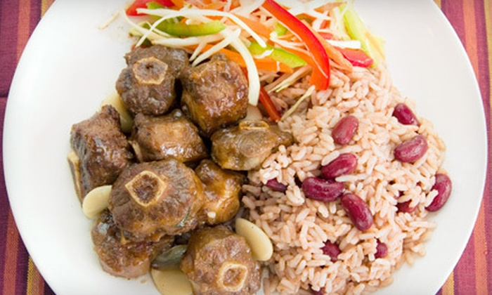 Mi'irie Mon Caribbean Restaurant - Liberty Area: Caribbean Food at Mi'irie Mon Caribbean Restaurant (Half Off). Two Options Available.