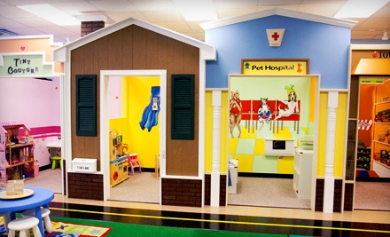 Party for Up to Six Kids or Five Groupons, Each Good for One Admission at Tiny Town Play Lounge (Up to 52% Off)