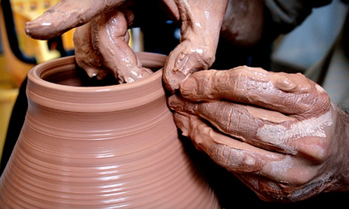 Not Made in China Pottery Studio - University Area: $20 for a Clay Date Class for Two with 2–2.5 Hours of Studio Time at Not Made in China Pottery Studio ($60 Value)