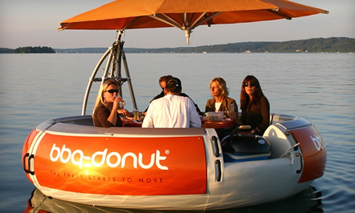 Seaforth Boat Rentals - Multiple Locations: Three-Hour BBQ Donut Boat Rental or Two-Hour Electric-Boat Rental from Seaforth Boat Rentals (Half Off)