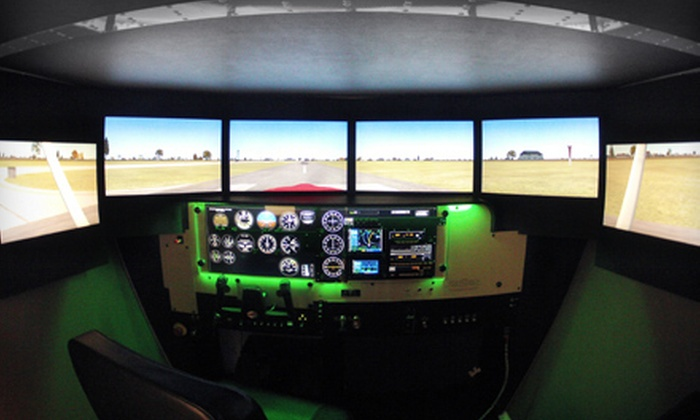 Freeway Airport - Woodmore: One or Two Sessions in a Redbird Flight Simulator at Freeway Airport (Up to 66% Off)
