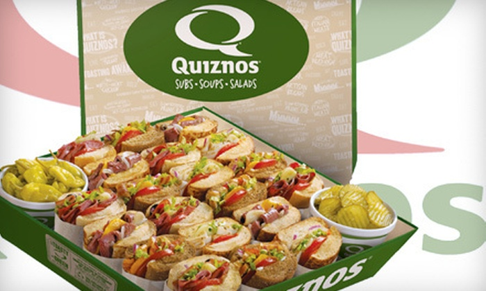 Quiznos - Columbia,Downtown,Gaslamp: Catered Subs for 10 or 20 or Two Regular Sub Combos from Quiznos (Up to 55% Off)