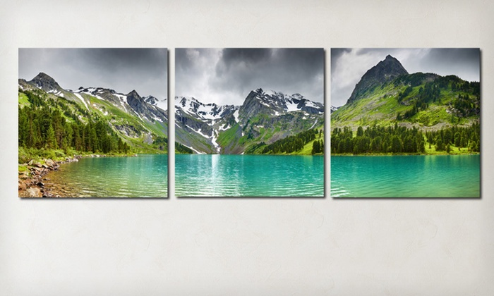 Panoramic Gallery Wrapped Triptych: $69 for a Panoramic Gallery Wrapped Triptych ($438 List Price). Eight Options Available. Free Shipping.