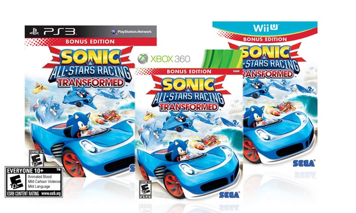 Sonic & All-Stars Racing Transformed for Wii U, Xbox 360, or PS3: Sonic & All-Stars Racing Transformed for Wii U, Xbox 360, or PS3. Free Returns.
