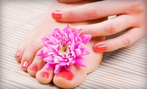 Gel Manicure And Optional Regular Pedicure At Amore Beauty And Spa (up To 52% Off)