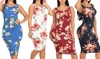 Juniors Bodycon Floral Midi Dresses