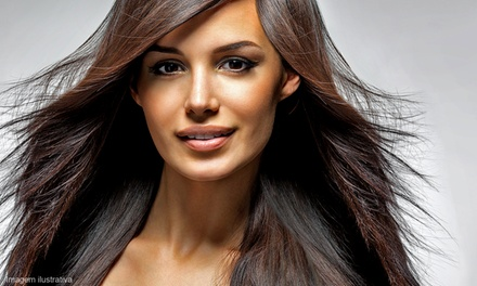 Cut w/ Option for Prtl or Full Highlights, Full Color or Smoothing Treatment at The Hair Brewery (Up to 60% Off)