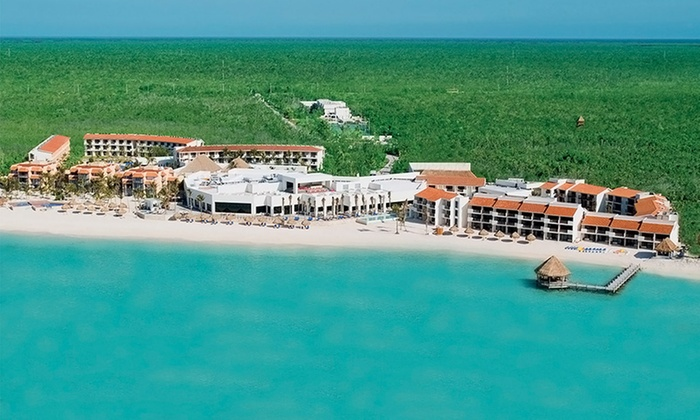 All-Inclusive Oasis Tulum Beach Vacation from Vacation Express - Akumal: All-Inclusive Stay at Oasis Tulum with Airfare; Includes Taxes and Fees. Price/person Based on Double Occupancy.