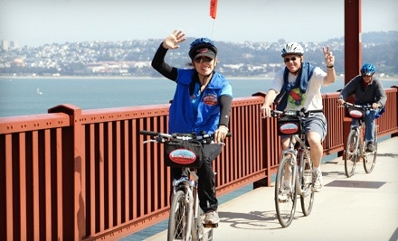 Full-Day Bike Rental for 2 with Deluxe Mountain or Deluxe Hybrid Bikes, Helmets, and Bike Locks - Blazing Saddles in San Francisco