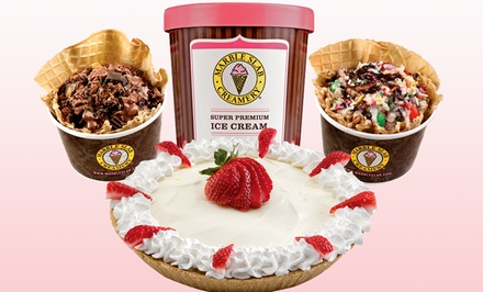 Two Groupons, Each Good for an Ice-Cream Pie, or Picnic Pack for Four at Marble Slab Creamery (Up to 50% Off)