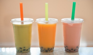 I LUV Bubble Tea: Large Bubble Teas and Cookies at I LUV Bubble Tea (Up to 50% Off). Two Options Available.