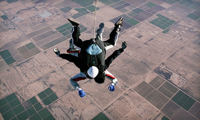 Skydive Air Adventures - Clewiston: $198 for a Tandem Skydive Package with an Image CD, T-Shirt, and Swag Bag at Skydive Air Adventures ($340 Value)