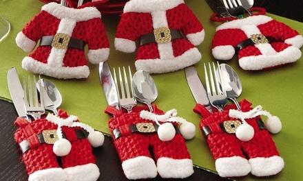 Christmas Santa Claus Cutlery Holder Socks: Six $9.95, 12 $16 or 18 $22