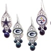 NFL Teardrop Dangle Earrings with Team Logo