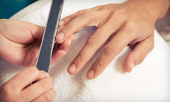 Hush Nail Boutique - Lincoln Park: $35 for a Moroccanoil Manicure and Pedicure at Hush Nail Boutique ($75 Value)