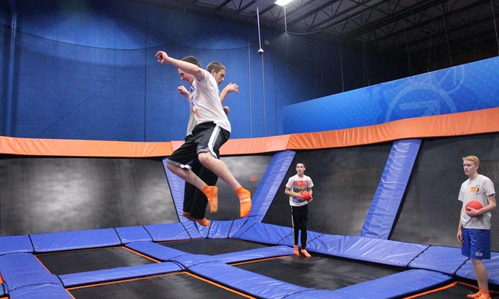 Sky Zone - Bethel - Bethel: Two 60- or 90-Minute Open-Jump Passes or 10 SkyFit Classes at Sky Zone - Bethel (Up to 45% Off)