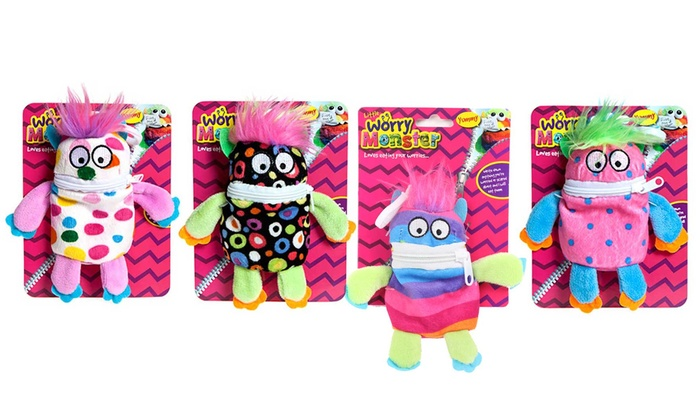 One, Two or Four Plush Worry Monsters in Choice of Size and Colour from £2.59