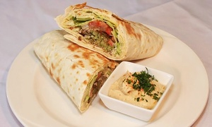 Karam Lebanese Deli and Catering: Mezze with Optional Shawarma, or Desserts and Coffee for Two at Karam Lebanese Deli and Catering (Up to 39% Off)