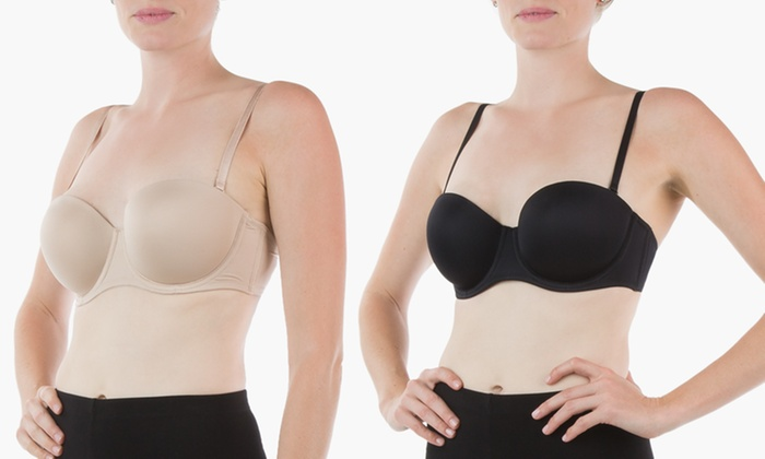 Sociology 5-Way Convertible Bandeau Bras (2-Pack) | Groupon Exclusive