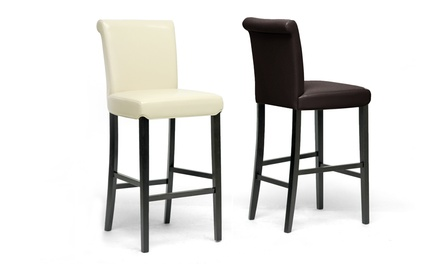 Set of 2 Baxton Studio Modern Barstools