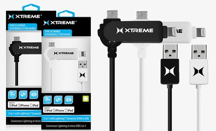 Xtreme 2-in-1 Micro USB and Lightning Cable