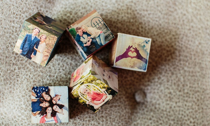 PhotoBarn: Custom Wooden PhotoBlocks from PhotoBarn (Up to 75% Off)