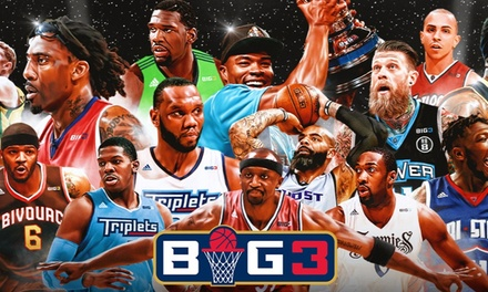 BIG3: 3-on-3 Professional Basketball on Saturday, July 20, at 2 p.m.