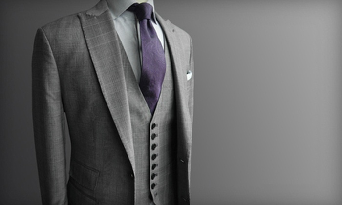 Beckett & Robb - Financial District: $799 for a Custom Two-Piece Loro Piana Suit from Beckett & Robb ($1,800 Value)