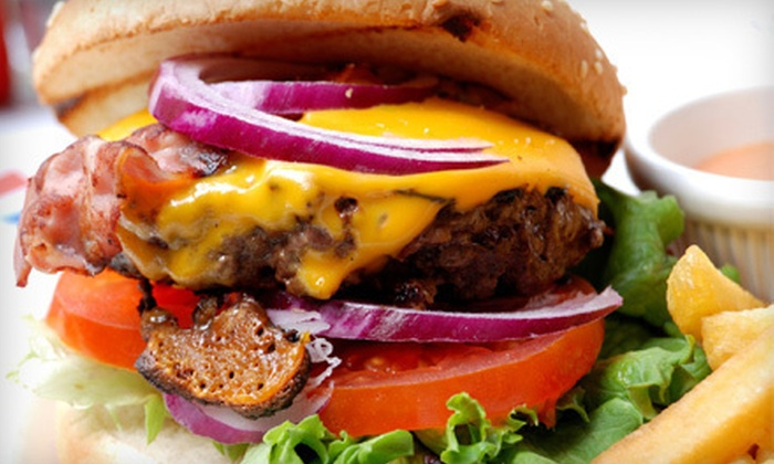 Chillers Grub & Brew - Midtown: Two or Four Build-Your-Own Burgers with Fries, or Sides and Drinks for Four at Chillers Grub & Brew (Up to 58% Off)