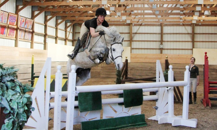 Spruce Meadow Farm - Clarence: Horseback-Riding and Grooming Lesson for One, Two, or Four at Spruce Meadow Farm (Up to 72% Off)