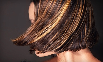 Haircut and Conditioning with Optional Color or Partial Highlights or Full Highlights at Cuttin Loose (Up to 65% Off)