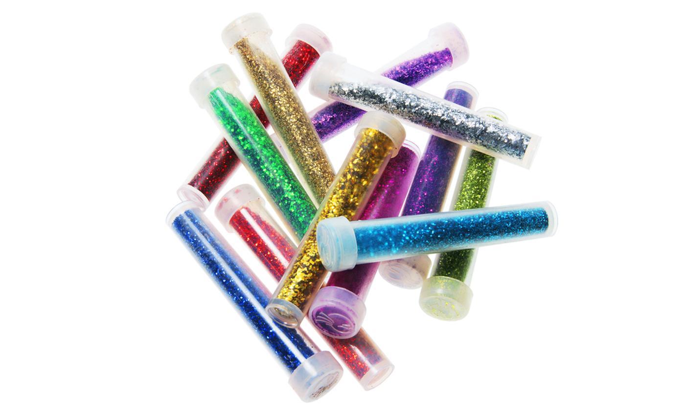 16 Glitter Tubes