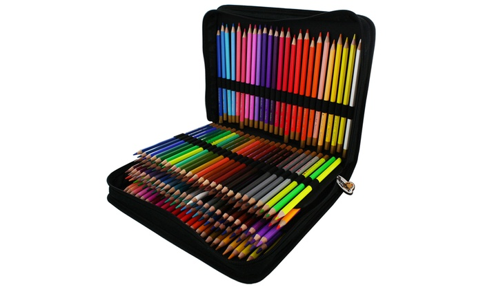 Up to 77 off on colored pencil set 150 piece groupon for Online art stores us